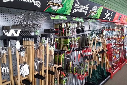 wide range of gardening tools available including Wilkinson Sword, Wolf multi-rool, Darlac cutting tools, Felco secateurs