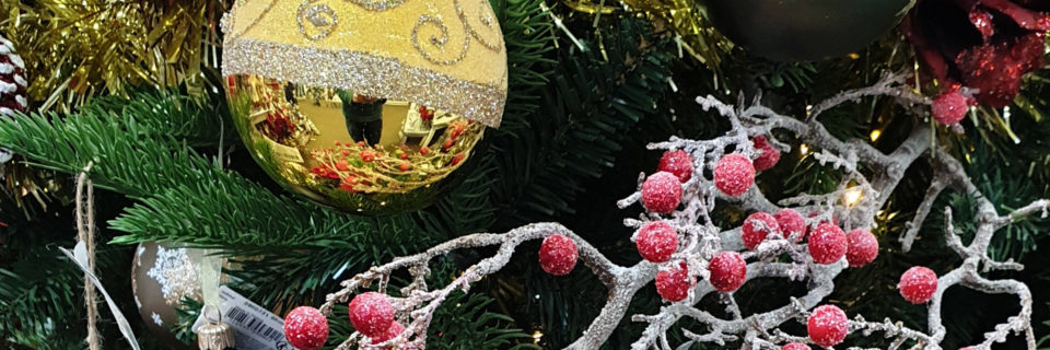Christmas decorations, artificial trees,