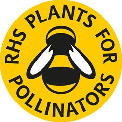 RHS PLANTS FOR POLLINATORS LOGO THAT APPEARS ON PLANT LABELS