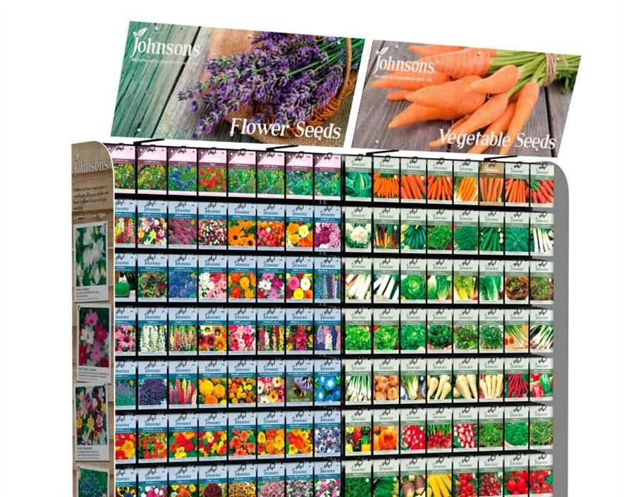 JOHNSONS SEEDS AND MR FOTHERGILL'S SEEDS AT EARLSWOOD GARDEN CENTRE GUERNSEY