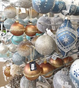 icy christmas colour baubles colour theme at earlswood garden centre guernsey